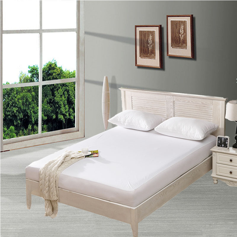 UK Mattress Size 150X200cm Smooth Waterproof Mattress Protector <font><b>Cover</b></font> For <font><b>Bed</b></font> Wetting And <font><b>Bed</b></font> Bug