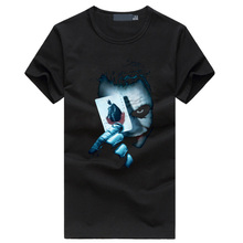 e7c4c36c8 Hot Joker Heath Ledger men's t-shirts Vintage Movie funny hip hop  streetwear black t