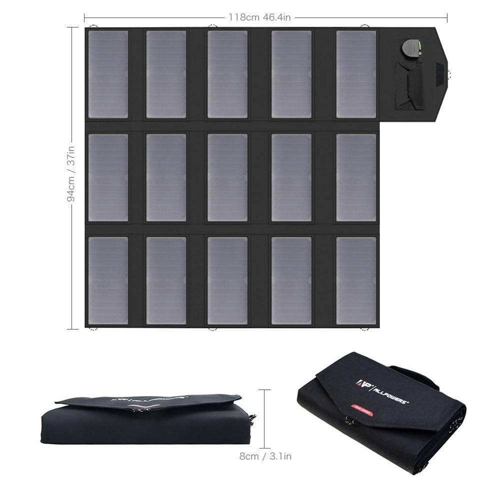 Allpowers 100 w carregador solar portátil do painel solar para a estação de energia da bateria do veículo do lg hp dell 12 v do ipad do iphone samsung. - 3