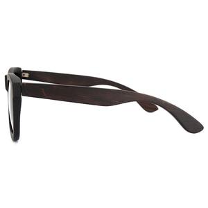 Image 5 - Bobo bird okulary 편광 된 에보니 우드 선글라스 브라운 그레이 렌즈 uv400 아이웨어 수제 맞춤형