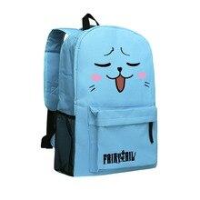 Fairy Tail Black Backpack Men School Boys School Bags Cute Cartoon Bookbags for Girls School Backpack