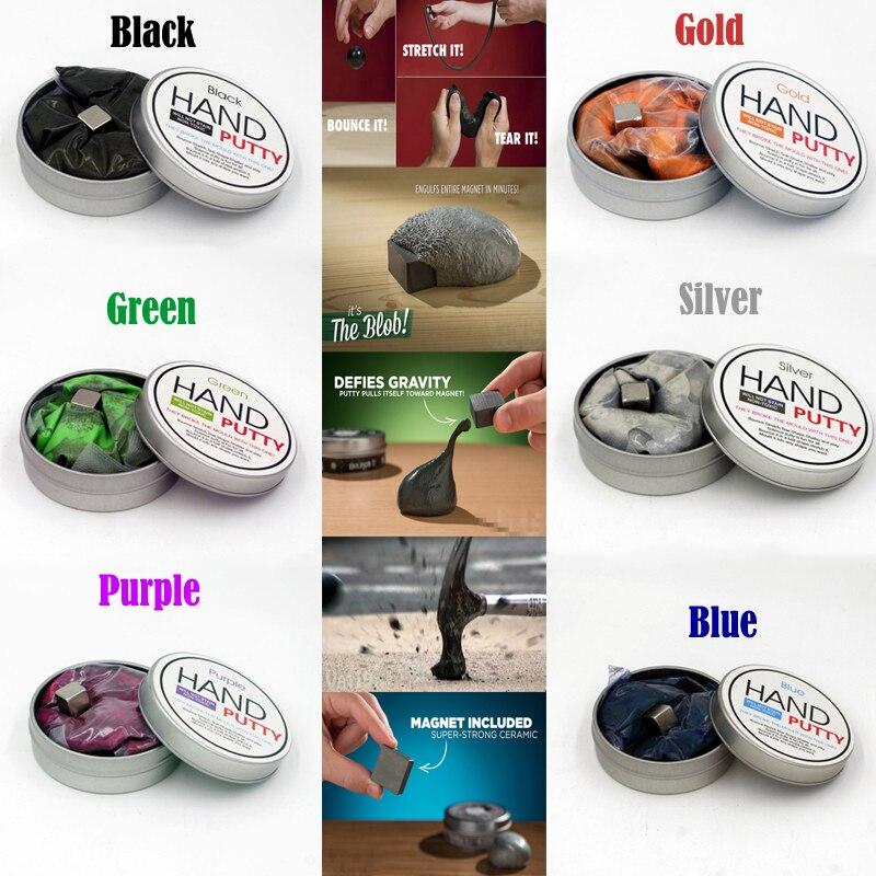 Ручной Шпатлёвки бренд DIY слизь Playdough Магнитный резиновые грязи сильный Пластилин Шпатлёвки Магнитная глины образования игрушки для детей ... ...