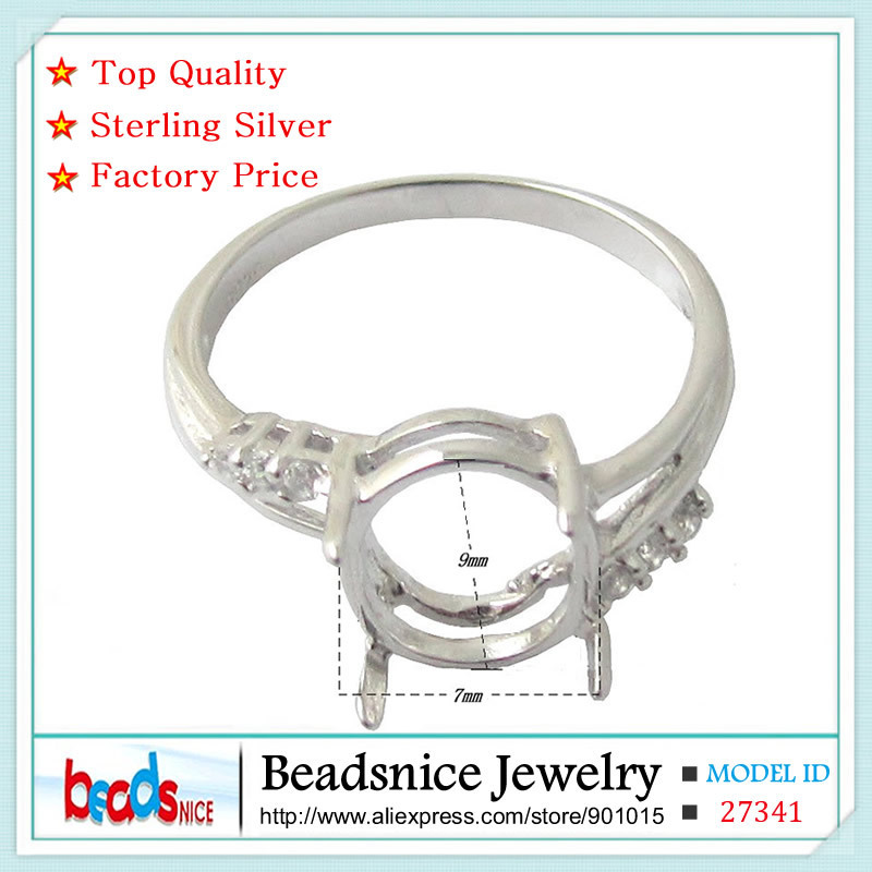 Beadsnice ID27341 top quality pure silver 925 semi engagement ring settings diy fine jewelry elegant rings for women silver 925