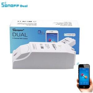 Image 1 - Sonoff double 2CH Wifi commutateur intelligent télécommande sans fil commutateur universel Module minuterie Wi fi commutateur contrôleur de maison intelligente