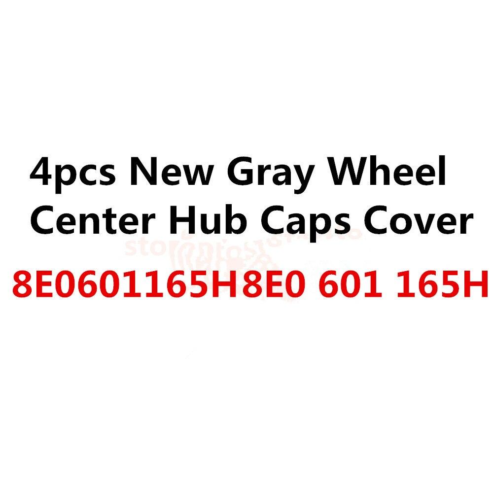 4шт крышки центра колеса Крышка ступицы серый ,подходит 8E0601165H универсальный для автомобиля