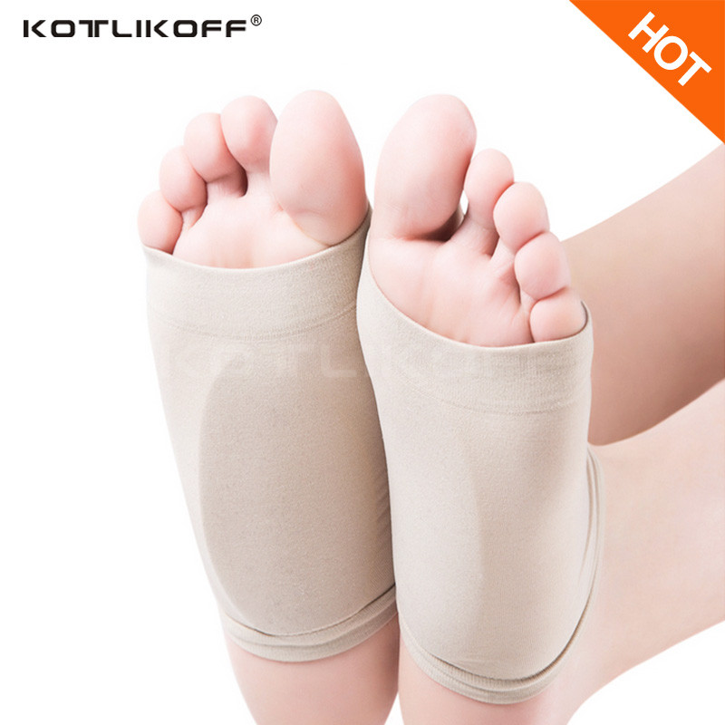 KOTLIKOFF Gel Plantar Fasciitis Arch Support Sleeve Heel Spur Heel Neuromas Cushion Flat Foot Orthotics Insoles for Men Women bocan gel insoles for spur plantar