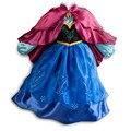 2015 Do Bebê Do Vestido Da Menina de Flor Da Princesa Vestidos Infantis Congelados Anna Elsa Vestido de Febre Diamante Verão Traje Vestido