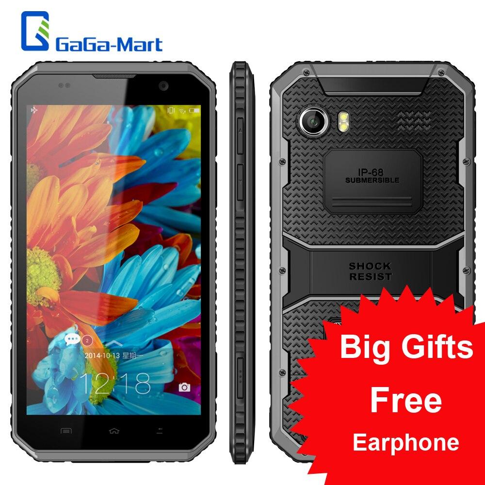 """Цена за Kenxinda W9 4000 мАч IP68 Водонепроницаемый 4 Г Смартфон Android 5.1 Окта основные MTK6753 2 ГБ + 16 ГБ 8MP пыле Противоударный 6.0 """"Мобильный Телефон"""
