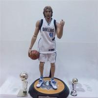 XINDUPLAN Dirk Nowitzki NBA Dallas Mavericks 41 Action Figure Toys 1 6 34cm Large PVC Gift
