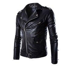 SHUJIN Brand PU Leather Jacket Men Autumn Casual Zipper Mens Motorcycle Leather Jacket Winter Male Slim Fit Coat Plus Size 4XL