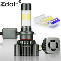 Zdatt 1 Pair Super Bright High Power Car H7 Led Headlights Universal 12V 120W 12000LM High