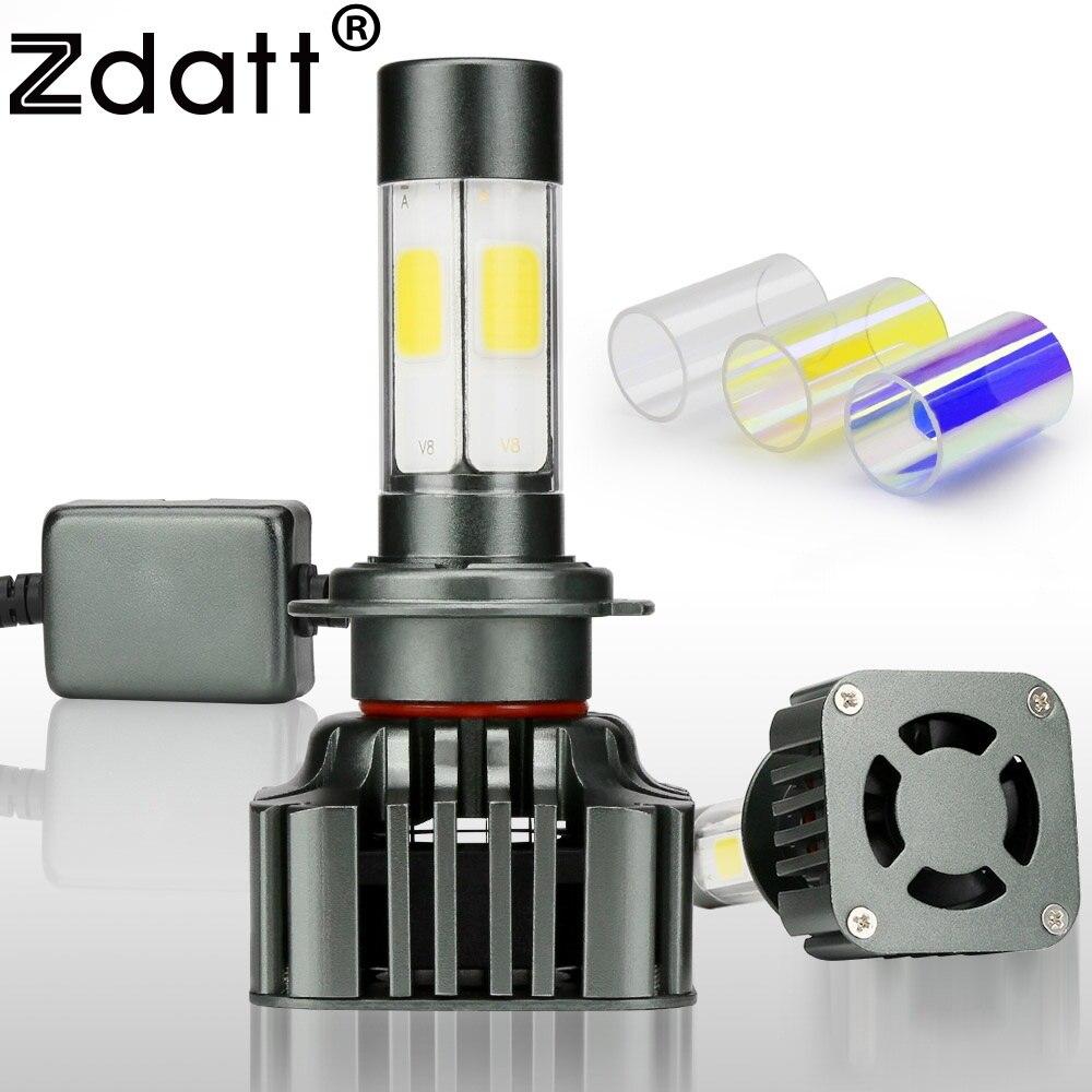 Zdatt 1 Pair Super Bright High Power Car H7 Led Headlights Universal 12V 120W 12000LM High