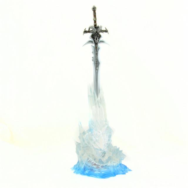 Starz Arthas Menethil arma agonía de escarcha Ner'zhul rey exánime espada WOW figura PVC juguetes con luz para arriba el soporte