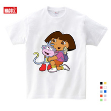 3T-9T Girl Summer Cotton T Shirts Casual Funny Top T Shirt Boys Tops 2019 New T Shirts Kids Toddler Dora Explorer Tee Shirt lovely cozy baby girl tops shirt kids child toddler soft cotton fall t shirt tee