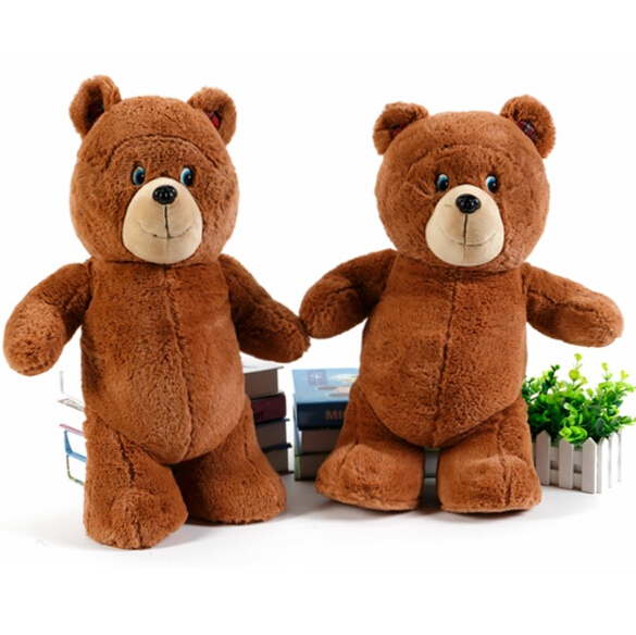 1pc Foreign 50cm Teddy Bear Plush Toy Stuffed Animal Doll Children's Gift Kids Love Brinquedos Xmas - xiao T's store