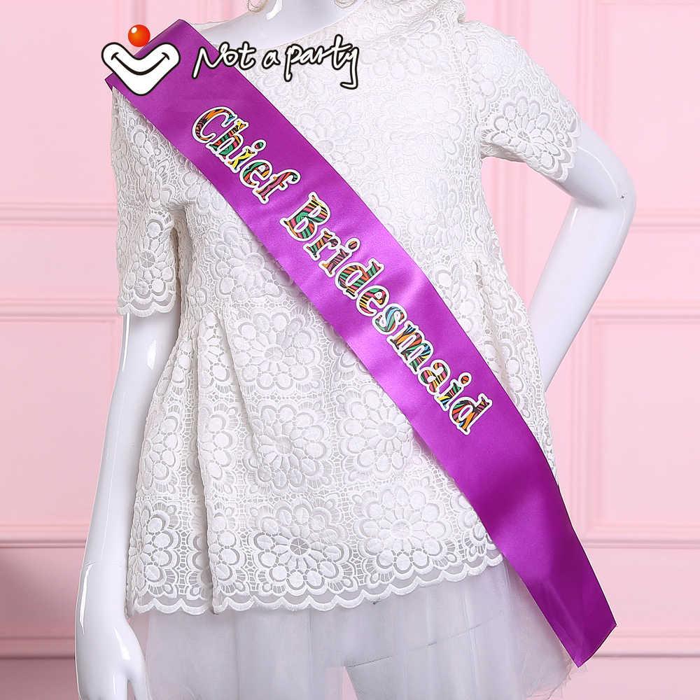 2020 neue mode-design Wilde bunte schärpe für bachelorette party Hen nächte braut team favor hochzeit veranstaltungen liefert