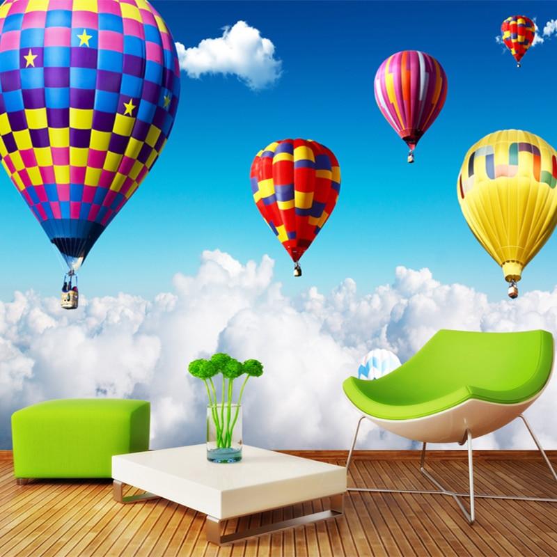 3D Wallpaper Custom Colorful Hot Balloon Photo Wall Mural
