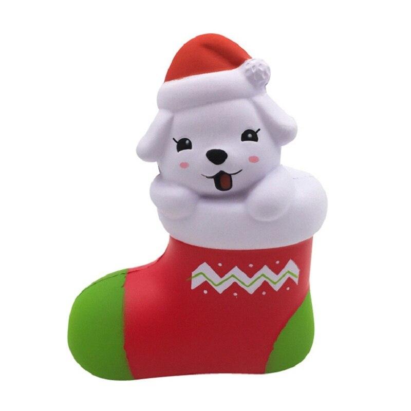 Hot Sale Jumbo Kawaii Christmas Stocking Puppy Squishies PU ...