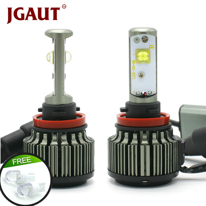 JGAUT H4 LED Mobil Cahaya H1 H3 H7 H11 880 9005 9006 80 W 9000LM Canbus TURBO 6000 K XHP50 Fog Headlight Bulbs Kit Lampu Mobil