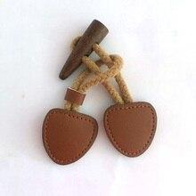 3 пары винтажная деревянная и натуральная кожа вещевой рожок кнопка переключения для ремесла куртка пальто коричневый 15 см комбинированные пуговицы швейные материалы
