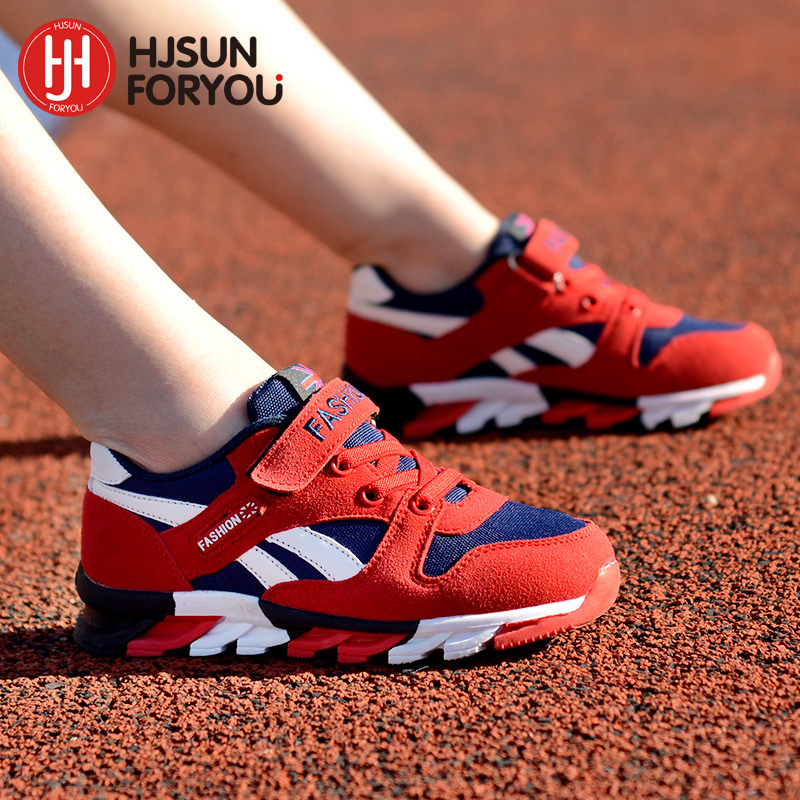2018 New Children shoes boys sneakers girls sport shoes size 26-39 child leisure trainers casual breathable kids running shoes 2017 brand boys sneakers girls sport shoes new breathable children shoeschild rubber leisure trainers casual kids sneakers