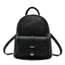 Дамские туфли из PU искусственной кожи рюкзак корейский стиль минималистский многофункциональный сумка черный рюкзак для путешествий школы