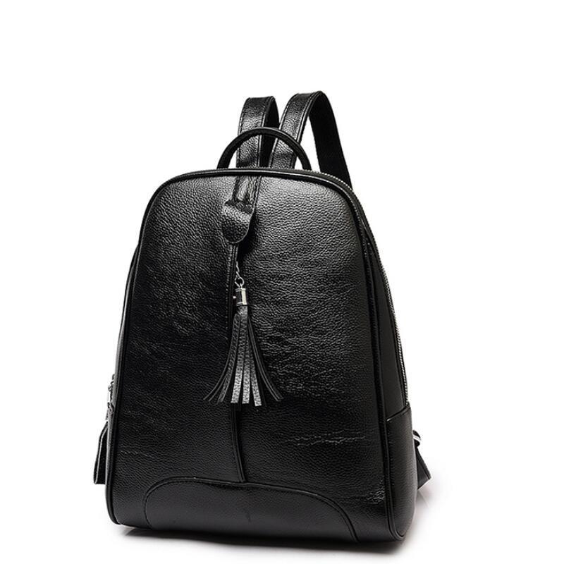 2018 Fashion Cowhide Backpacks Women Genuine Leather School Bag Girls Female Travel Shoulder Bags Waterproof Back Bags Mochila