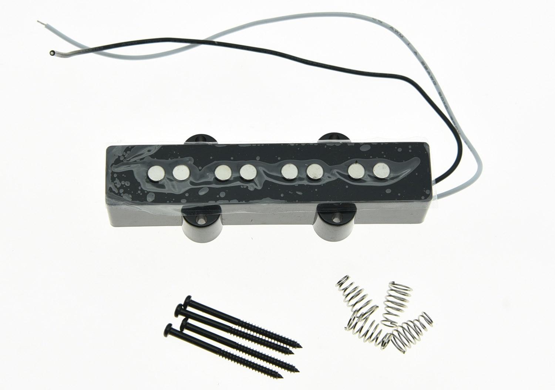 KAISH Black J Bass NECK Pickup 8.0K Bass Pickups for 4 String Jazz Bass Guitar kaish black p90 high power sound neck