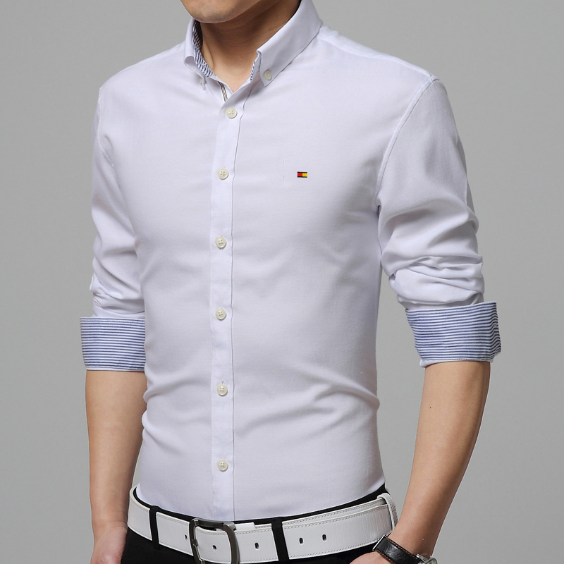7039aa34dc6251 AMAZON QUALITY Shirt Men New Fashion 2016 Men's Slim Long sleeved Shirt  Stylist Trend of Casual Shirts-in Casual Shirts from Men's Clothing on ...