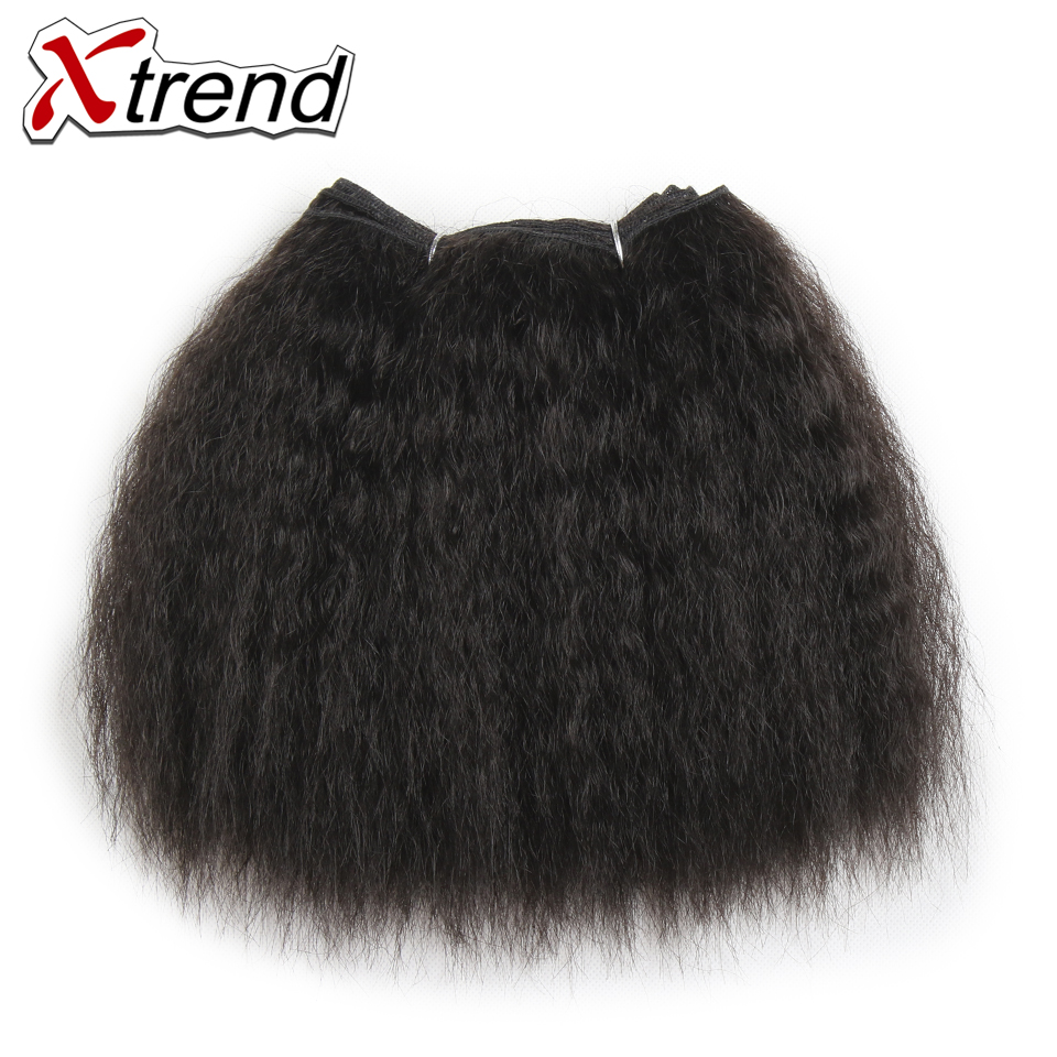 Xtrend 8inch 14inch Kinky Straight Synthetic Hair Weave High Temperature Fiber