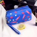 Fashion Lipstick & Lip pattern cosmetic bag women makeup bag 2017 Hot New trousse de maquillage Lovely travel organizer