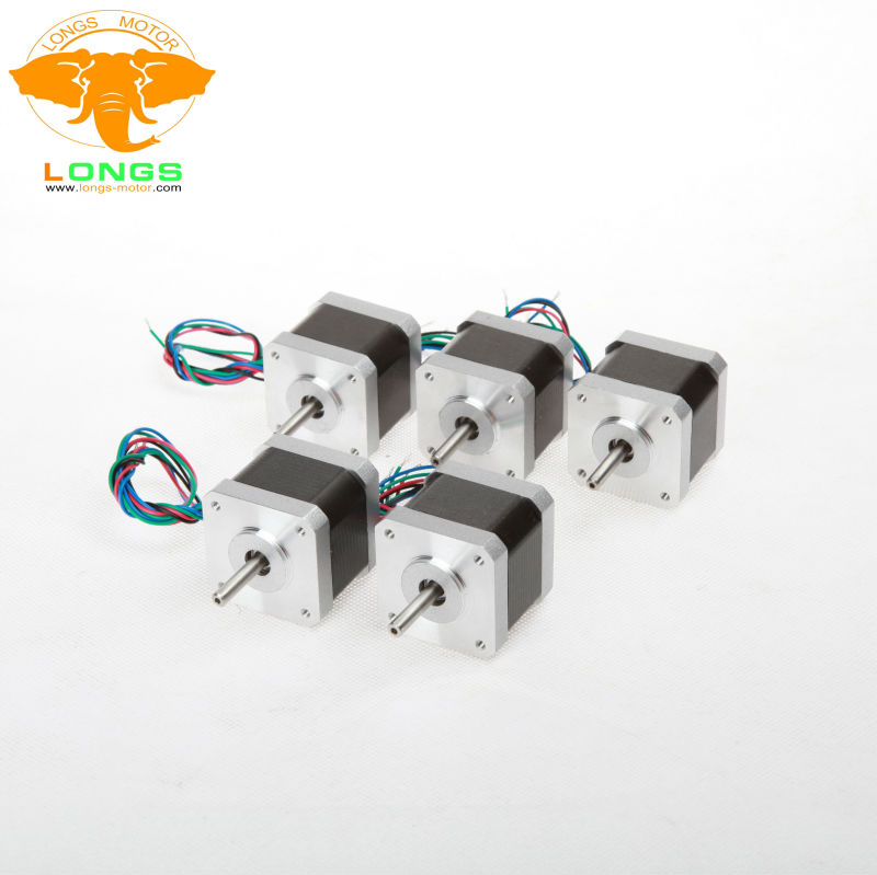 5PCS NEMA 17 Stepper Motors 17HS4401N 1.7A Minebea bearing Mill Robot RepRap Makerbot Prusa 3D Printer LONGS MOTOR