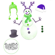 Naifumodo Christmas Snowman New Metal Cutting Dies Ornaments Elk Santa Scrapbooking Craft Stencil Die