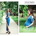 Verão vestidos de maternidade para mulheres grávidas gestantes grávidas fotografia adereços estilo longo beach dress yl417