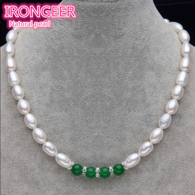 Genuine Be flawless 8mm  AAAAA natural pearl necklace 100% Natural pearl Fashion Pearl Necklace For women Free shipping