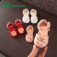 12 14CM Girl Shoes Infant Bowtie Lace Party Shoes Kid Child Girls PU Leather Diamond Princess