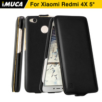Phone Cases Xiaomi Redmi 4x Cover Case Genuine Flip Leather Capa Xiaomi Redmi 4x Back Cover
