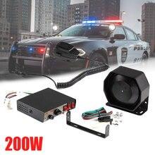1 шт. автомобильный рожок 200 Вт PA черный металлический плоский динамик, 12 в мегафон электронный динамик для аварийной машины США полицейская сирена