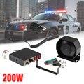 1 шт. автомобильные рожки 200 Вт <font><b>PA</b></font> черный металлический плоский динамик, 12 в мегафон электронный динамик для автомобиля скорой помощи полицей...
