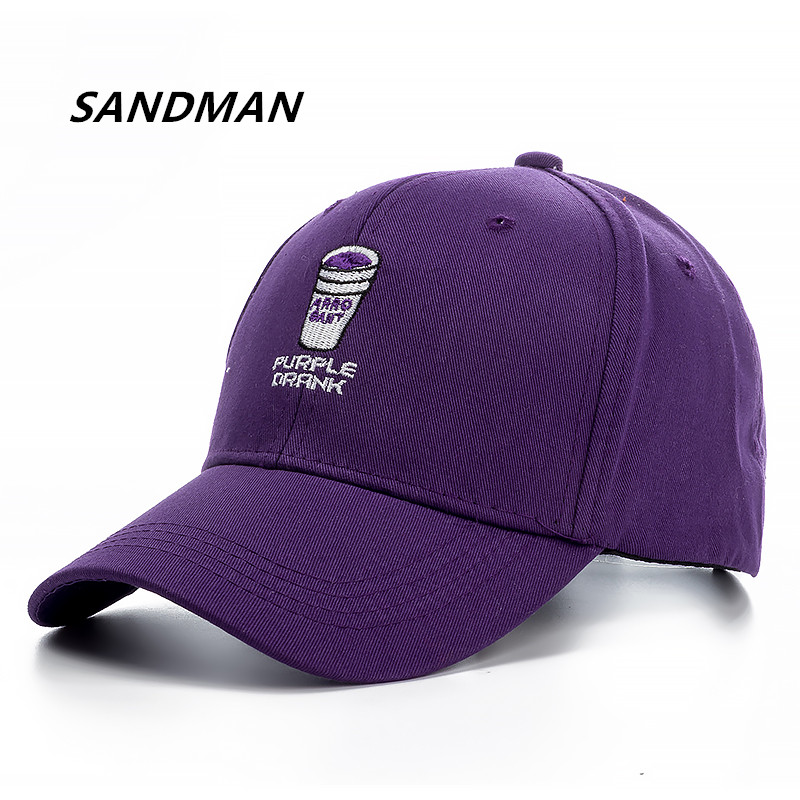 SANDMAN Brand Purple Drank Snapback Cap Cotton Baseball Cap For Men Women Adjustable Hip Hop Dad Hat Bone Garros adjustable la baseball cap men women snapback cap hat female male hip hop bone cap black cool fashion gorras letter cotton cap