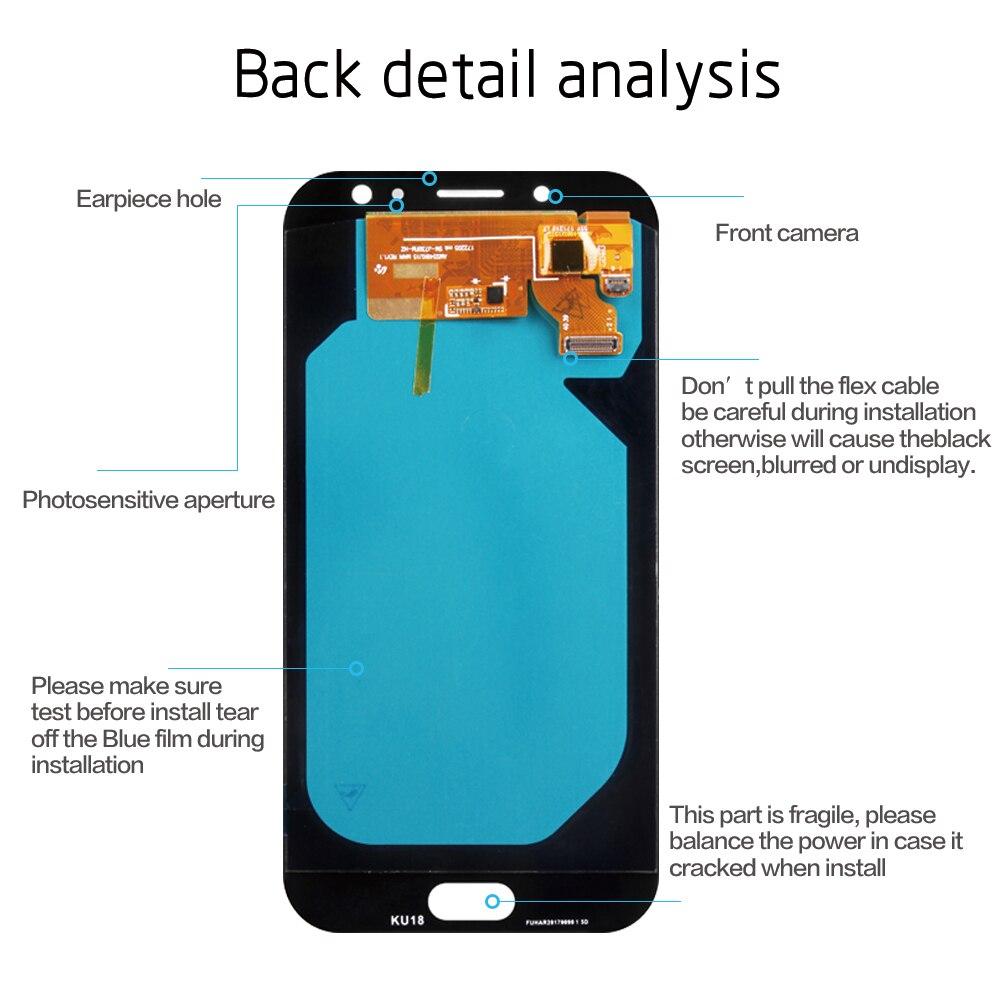 Original 5 5'' AMOLED Display for SAMSUNG Galaxy J7 Pro J730 LCD For  SAMSUNG J7 2017 Display Touch Screen Digitizer J730F