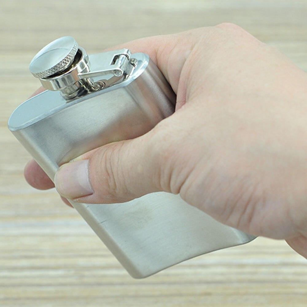 12pcs/lot Portable Flagon Hip Flask 3.5 oz Stainless Steel Bottle for Whisky Liquor Bottle