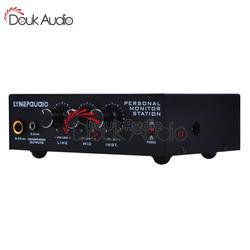 Douk Audio 3 канала персональный монитор станция аудио усилитель звука гарнитура прослушивание микшер