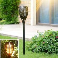 1/2Pcs LED Solar Light Flickering Flame Torch Waterproof Outdoor Garden Lamp Landscape Decoration Lawn #