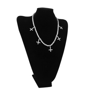 Image 5 - Uwin Iced Out Cubic Zirconia 1 Row Tennis Chains With Cross Pendant Necklace 5mm Width Fashion For Men/Women Jewelry