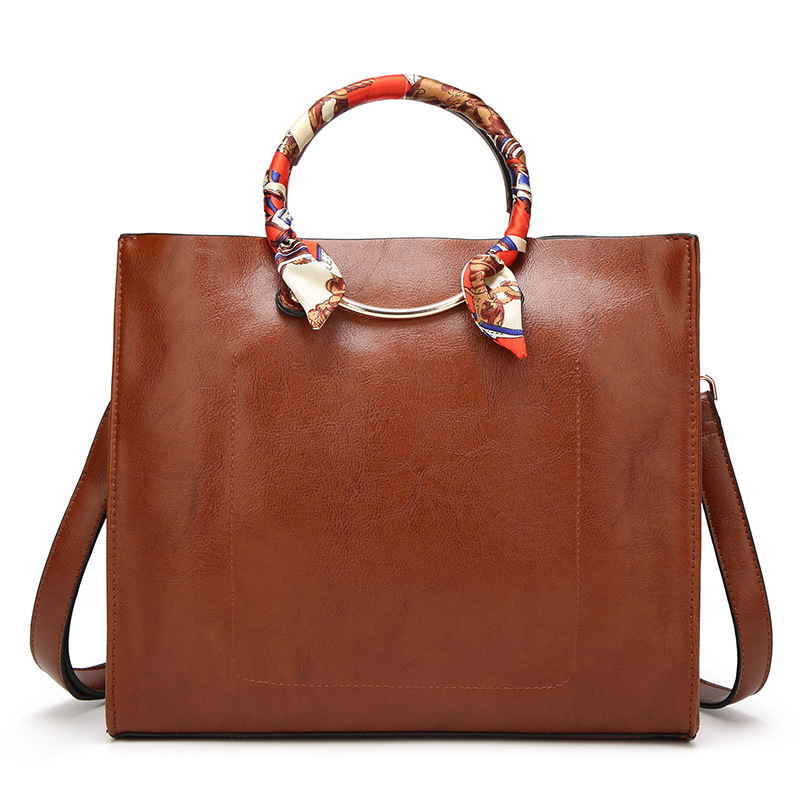 Female Vintage Tote bags Soft Pu Leather Large Capacity Women Casual Hands Bags Feminina Crossbody bag Classic High Quality large leather vintage tote bags women