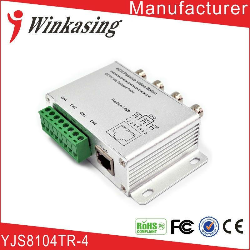 CCTV 4Ch DVR BNC UTP RJ45 Passive Video Balun Camera Cat5 Transceiver Security Video Balun Transmitter 1PCS