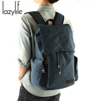 LAZYLIFE Men S Backpack Leisure Shoulder Travel Retro Canvas Men S Bag Schoolbag