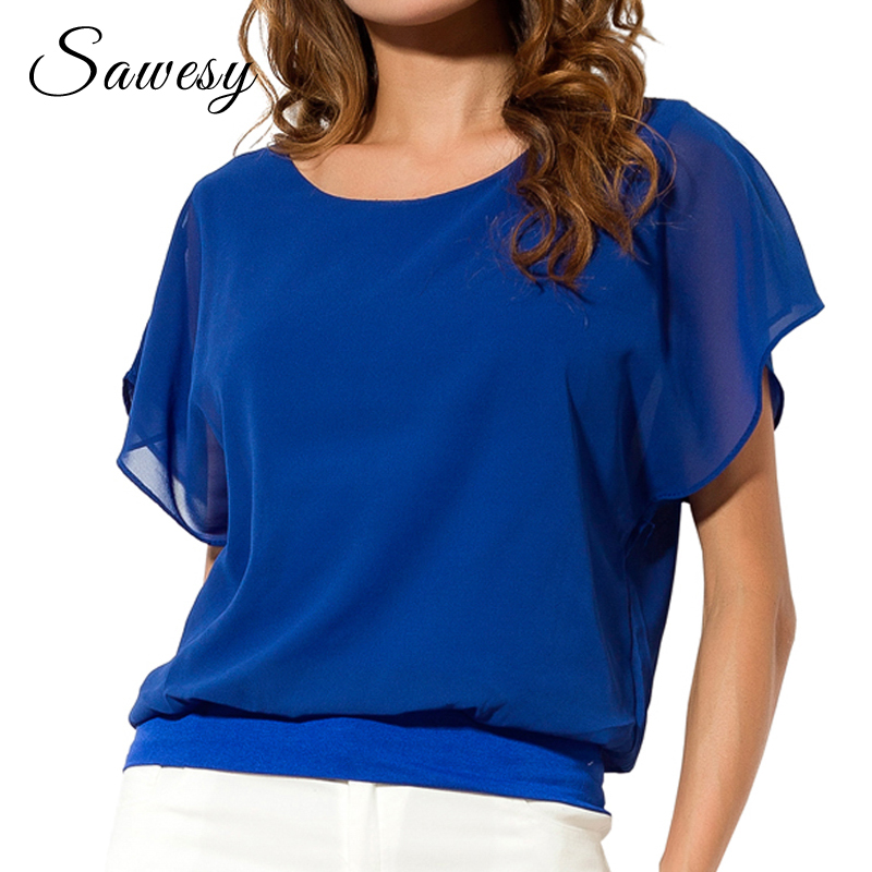 Women's Clothing Dependable Large Size Sexy Womens Sleeveless Double Pleated Chiffon Shirt Round Neck Top Vest Candy Color Summer S-5xl Punctual Timing