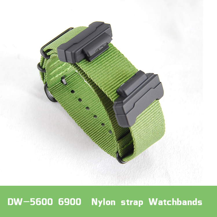Set of terminals Replacement for casio DW-5600 6900 M5610 series +  Nylon strap watchbands belt